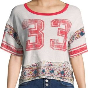 Free People Nicky cropped graphic T LOWEST POSH $